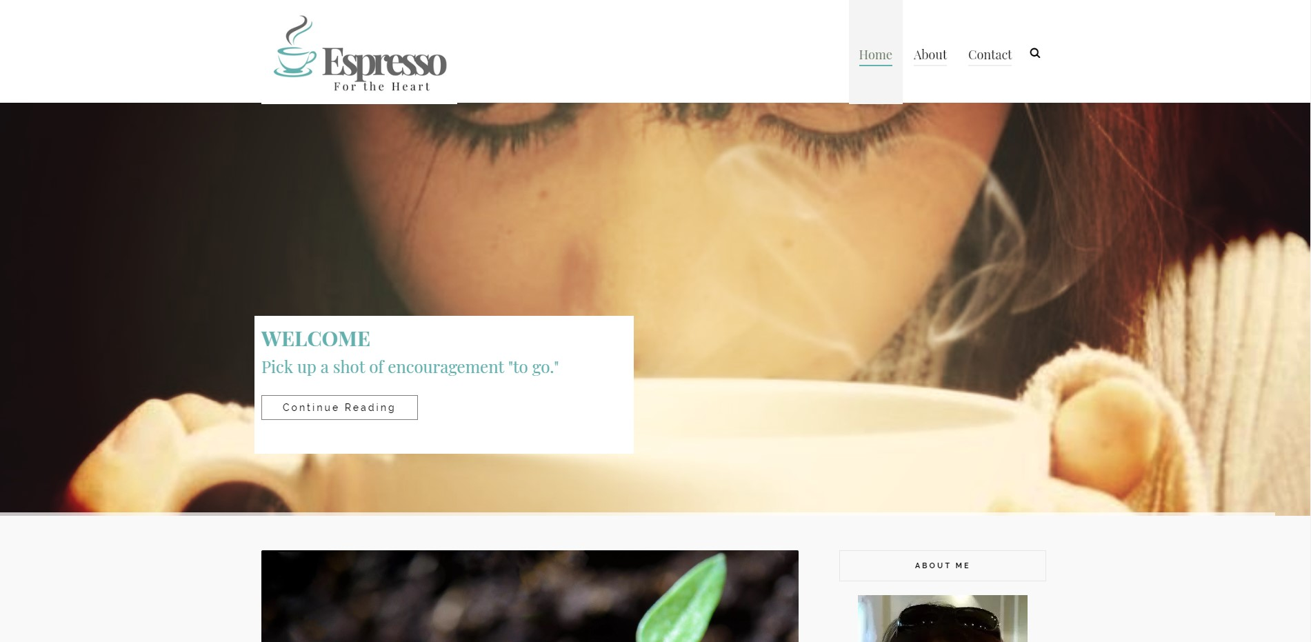 Espresso for The Heart website designed by JH Web Design