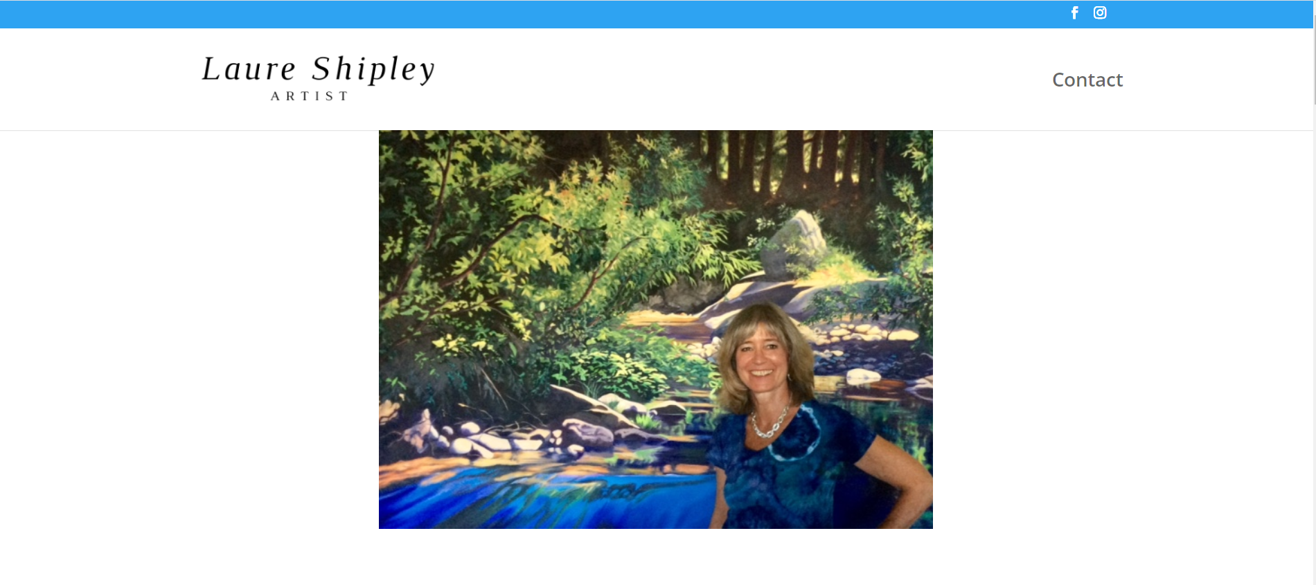 Laure Shipley website designed by JH Web Design