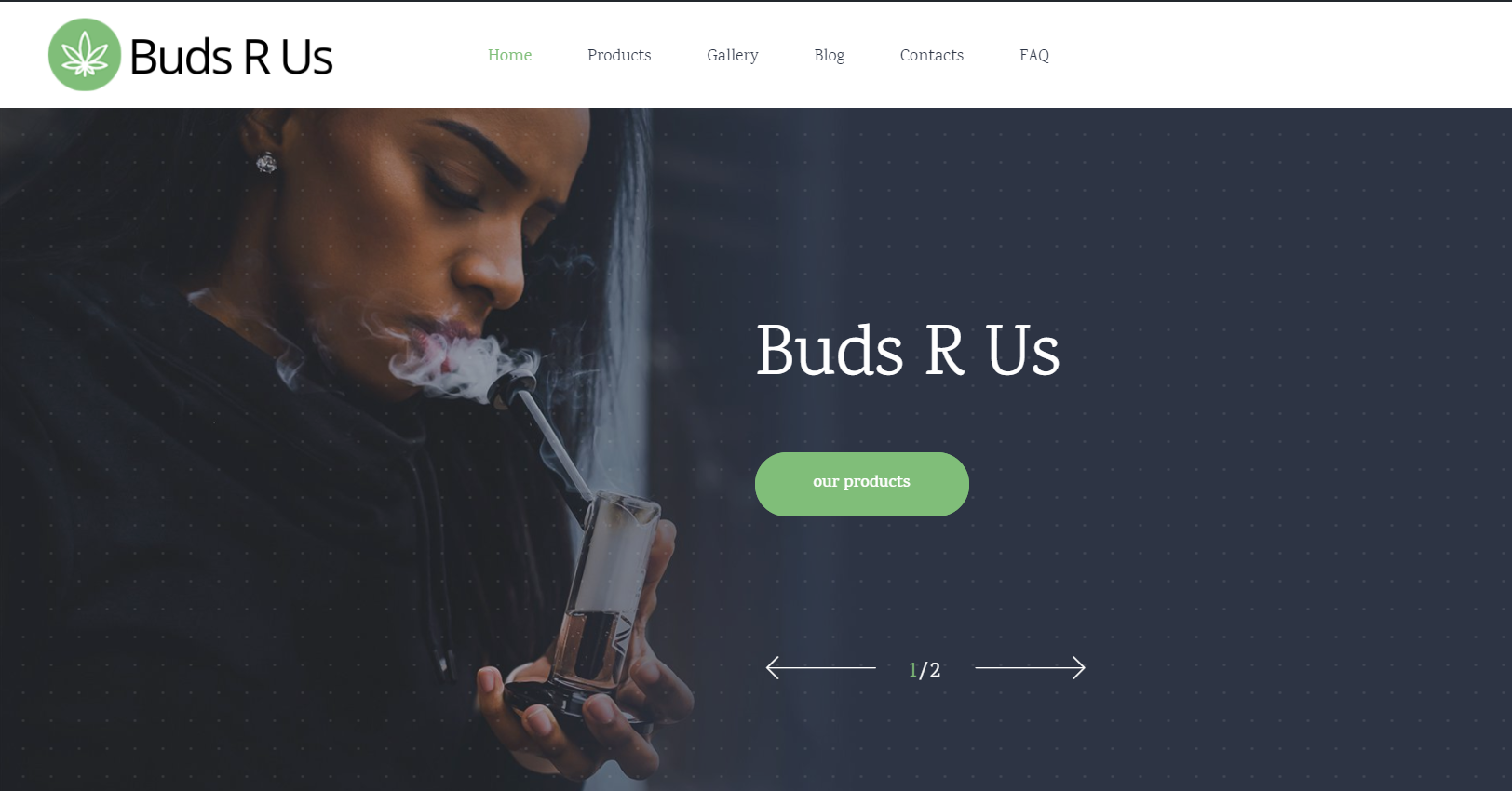 Marijuana Dispensary demo website designed by JH Web Design