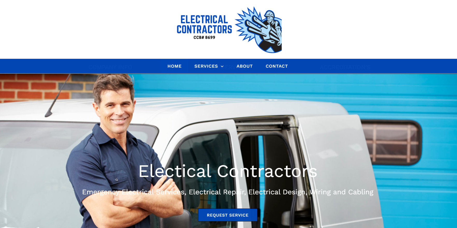 General Contractor demo website designed by JH Web Design